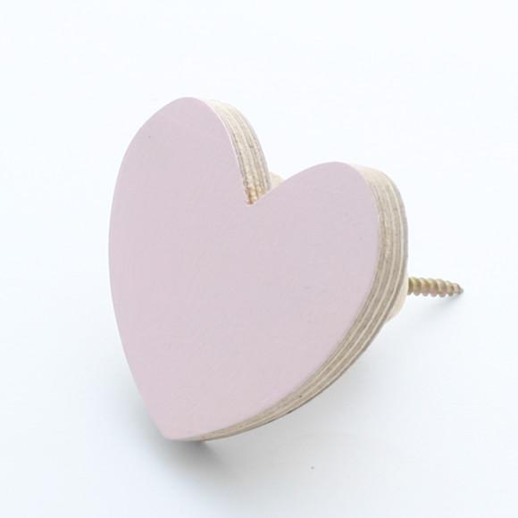 Pale Pink Heart Wall Hook