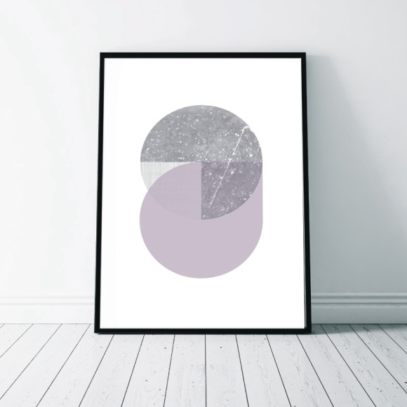 Circular Marble Art Print - 3