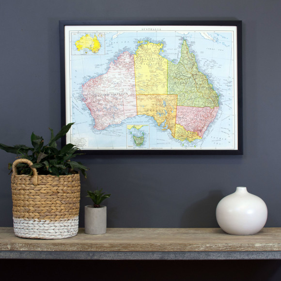 Australia vintage style map pinboard hardtofind gumiabroncs Choice Image