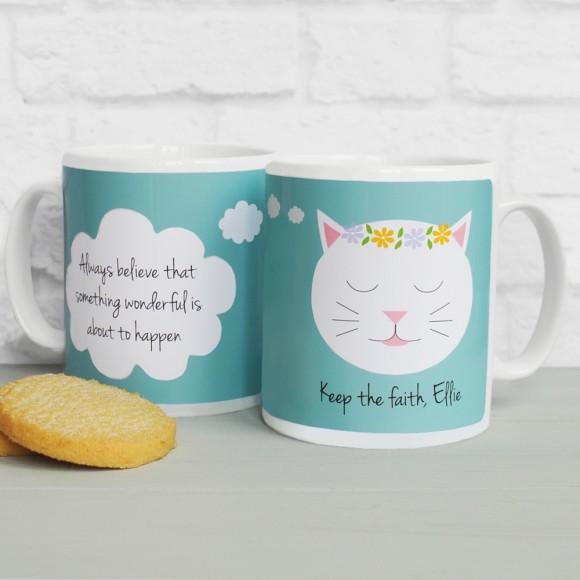 'Always believe...' quote mug Teal