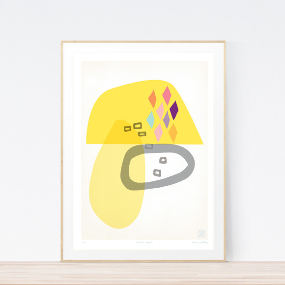Burnt Sugar Art Print Framed