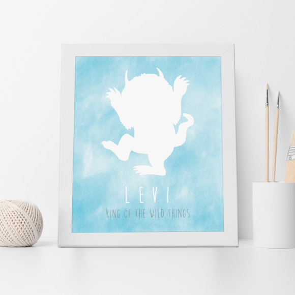 Personalised King of the Wild Things Print in Aqua
