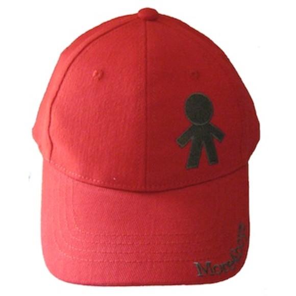 red peaked cap