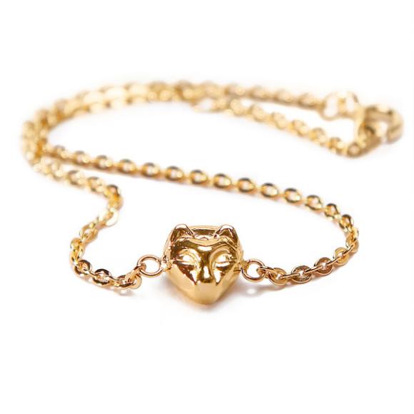 cat bracelet gold