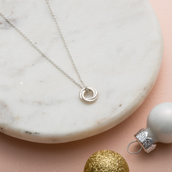 Petite Russian Ring Necklace in silver
