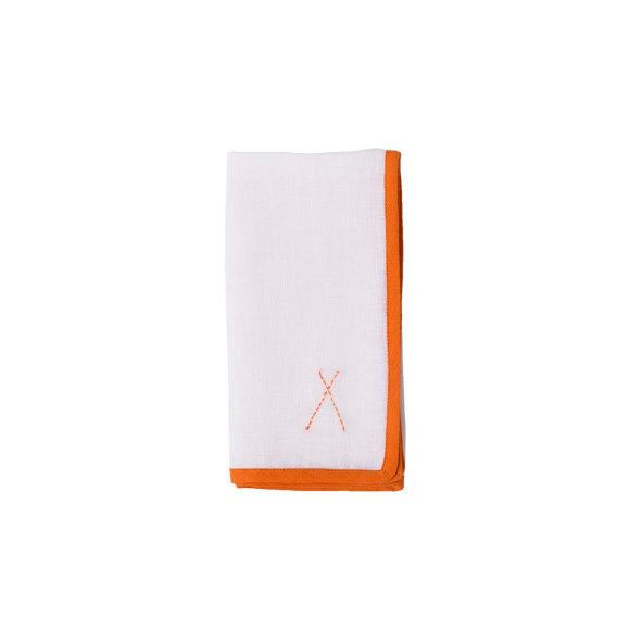 Linen Napkin with Orange TIPI