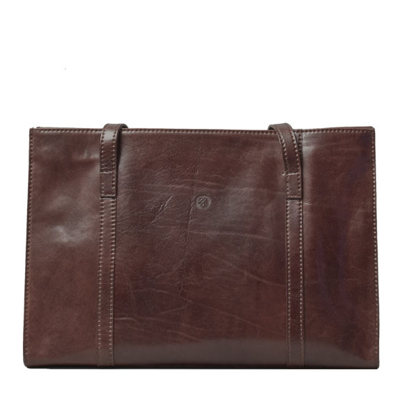 Rivara ladies business bag in chocolate brown