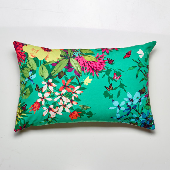 Tropicana cushion in jade