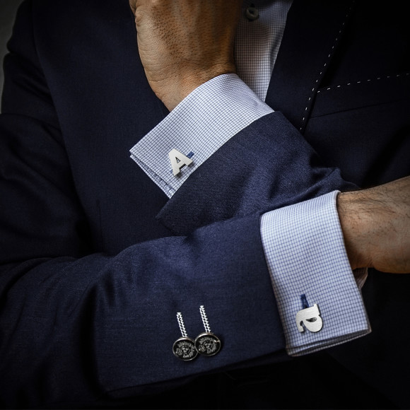 Custom Cufflinks in sterling silver
