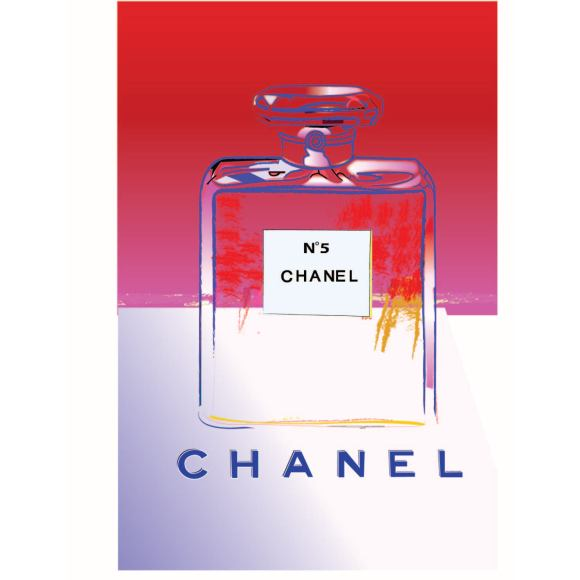Chanel No5 Vintage Poster Pink White