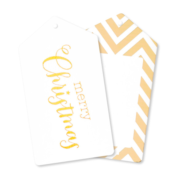 Gold Christmas Gift Tags Pack Of 12