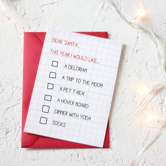 christmas wishlist card