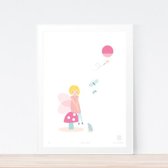 Make A Wish Art Print Framed