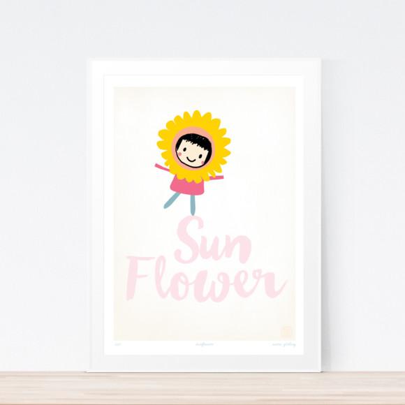 Sunflower Art Print (Framed)