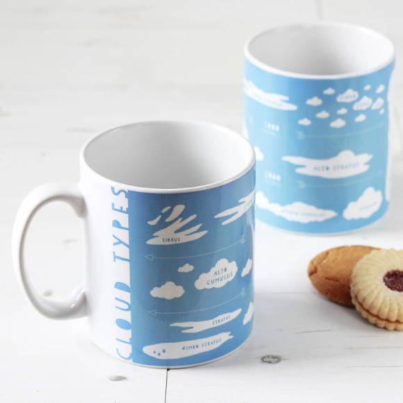Cloud types blue educational mug
