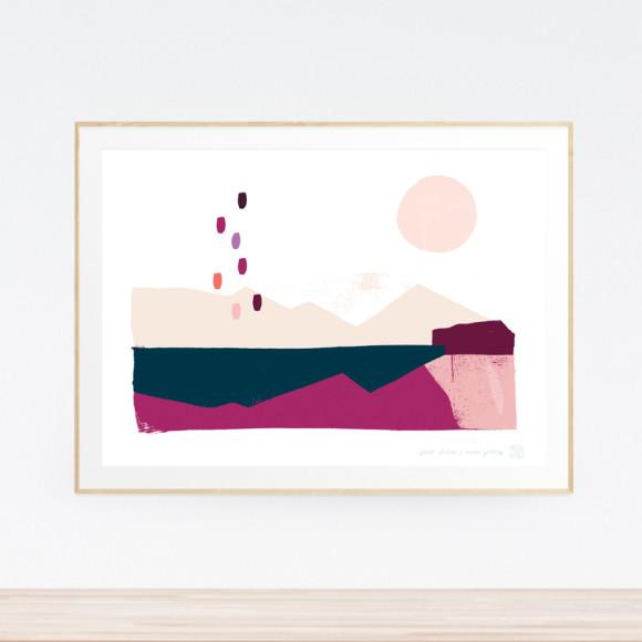 Great Divide Art Print (Framed)