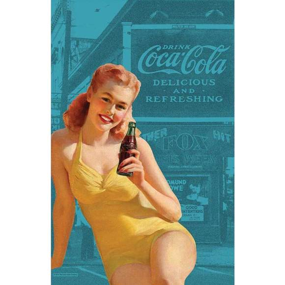 Coca Cola tea towel
