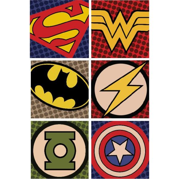 Superhero collage