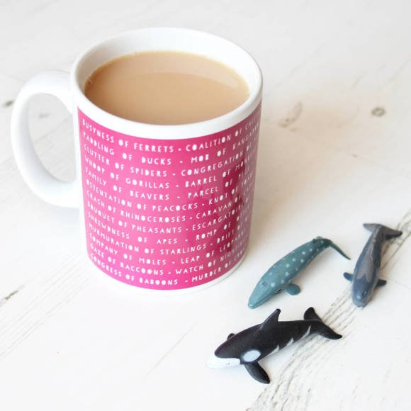 Collective animal nouns mug