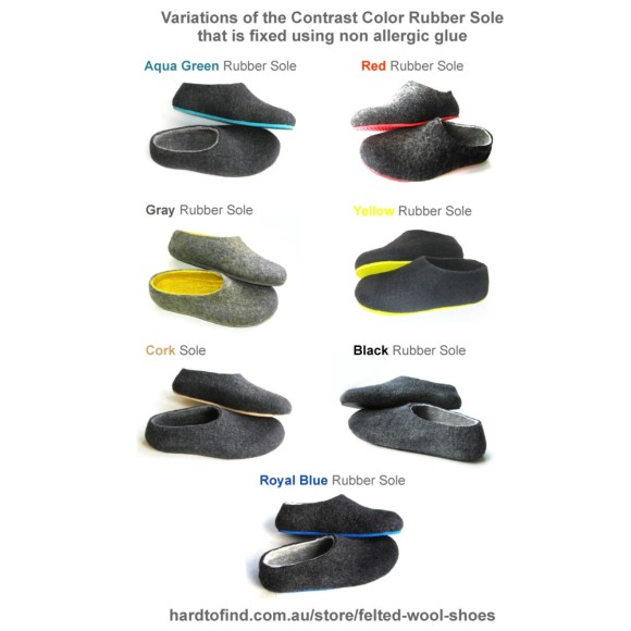 rubber sole colour