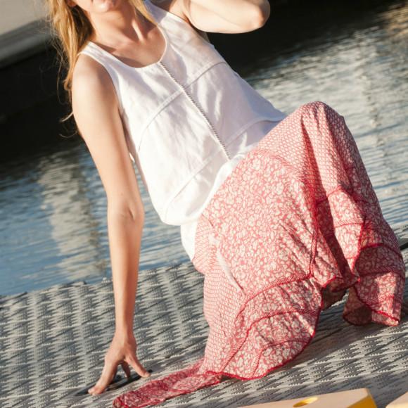Coral Mina Skirt