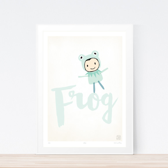 Frog Art Print (Framed)