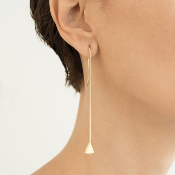Hissia long Origami earrings