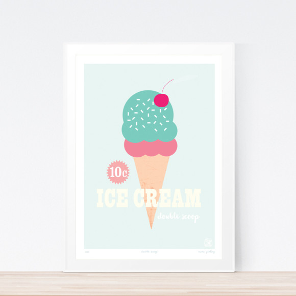 Double Scoop Art Print (Framed)