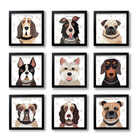 Dog prints - 37 breeds available