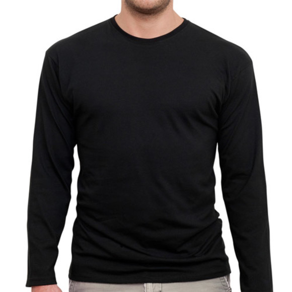 Men's Black Long Sleeved Tee