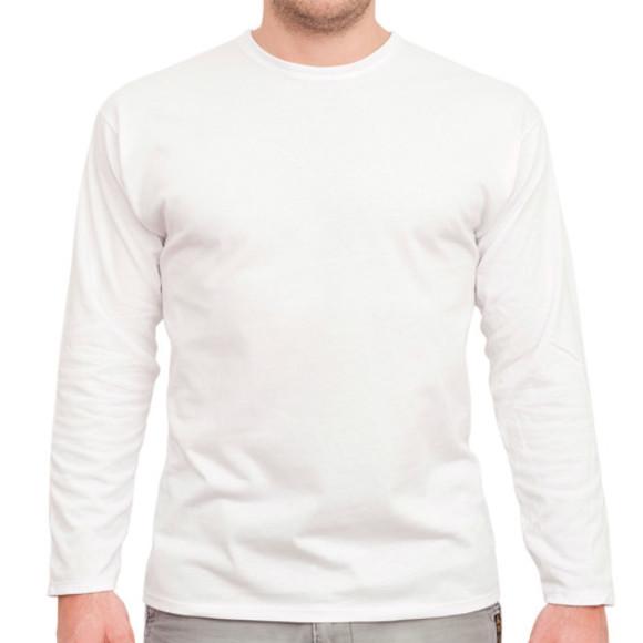 Men's White Long Sleeved Tee