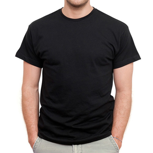 Men's Black Short Sleeved Tee