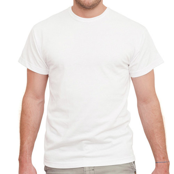 Men's White Short Sleeved Tee