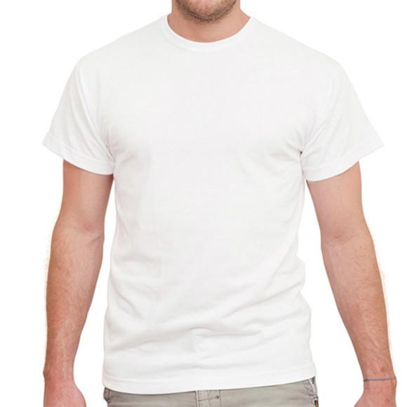 Men's White Short Sleeved Tee