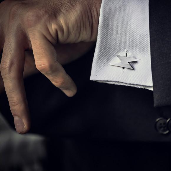 Flash cufflinks sterling silver