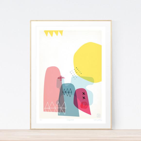 Masquerade Art Print (Framed)