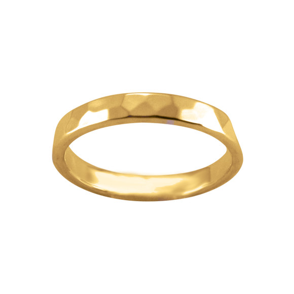 hammered ring gold