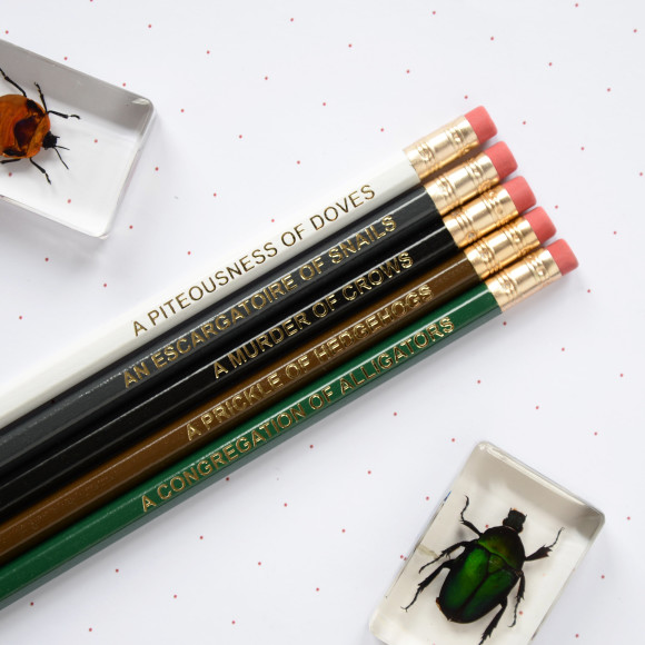 Dark Animal Nouns Pencil Set