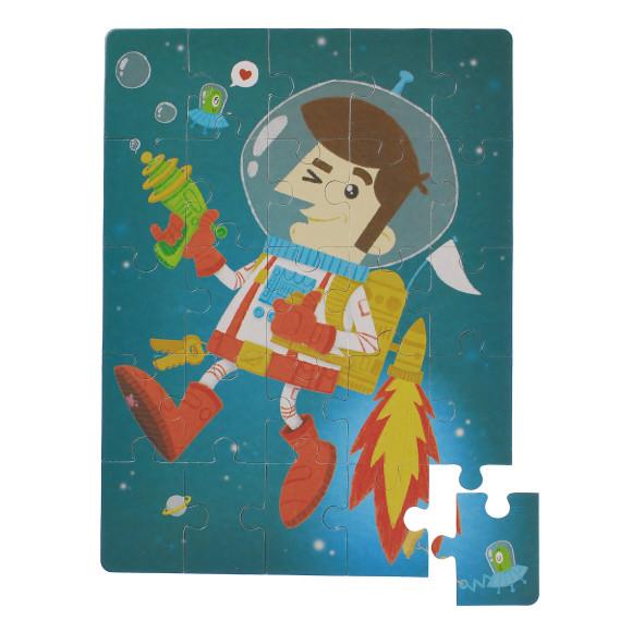 25 piece astronaut puzzle glottogon