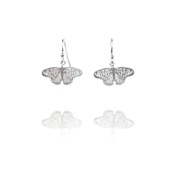 Amanda Coleman butterfly drop earrings silver