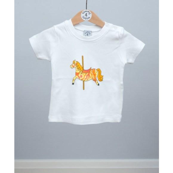 baby short sleeve carousel horse t shirt