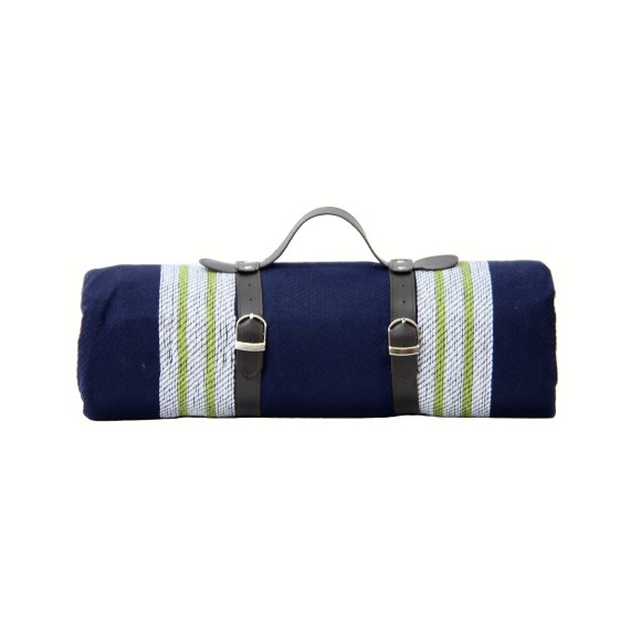 large picnic blanket rolled up