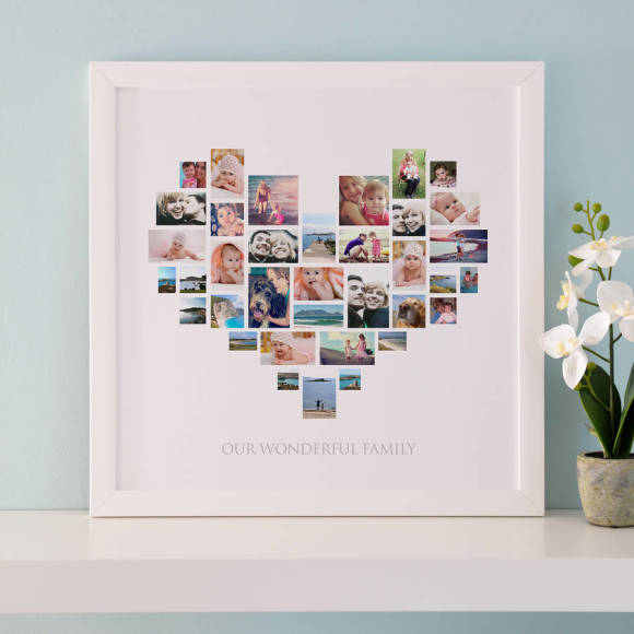 Personalised Heart Photo Collage | hardtofind.