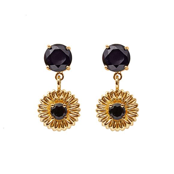 Daisy Drop Earrings gold
