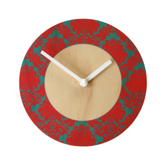 Damask wall clock