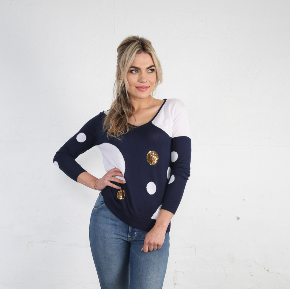 Navy Bauble Sweater