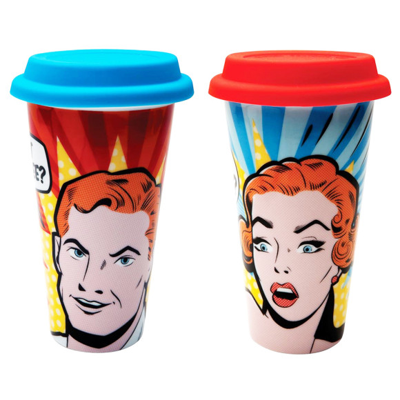 Pop art eco cups