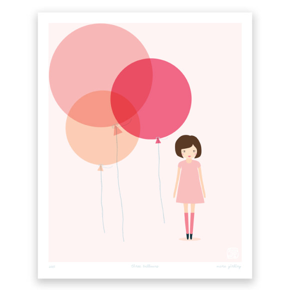 Three Balloons Art Print