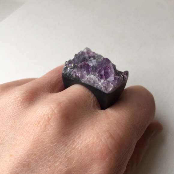 Amethyst Carved Rings