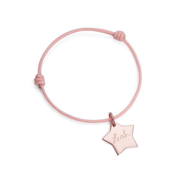 Rose gold plated star bracelet